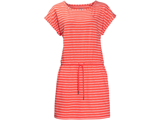 Jack Wolfskin Travel Striped Dress Women hot coral stripes